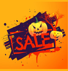 Halloween seasonal sale background vector