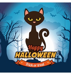 Happy halloween design vector image