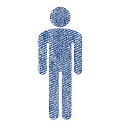 man fabric textured icon vector image vector image