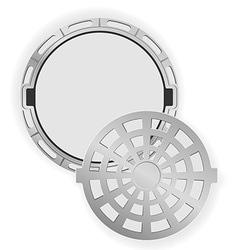 manhole 06 vector image vector image