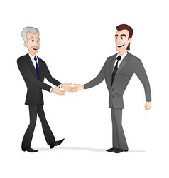 Men shaking hands vector