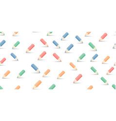 Multicolored pencils on white vector