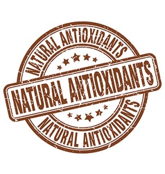 Natural antioxidants brown grunge round vintage vector