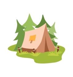 Outdoor tent vector
