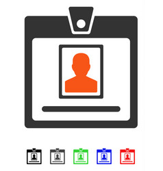 Person badge flat icon vector