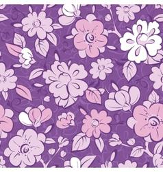 purple kimono florals seamless pattern vector image