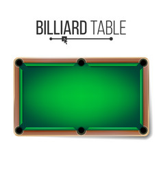 realistic billiard table american pool vector image