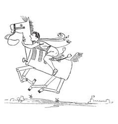 Reynard the fox story of cramparts horse vintage vector