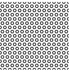 Simple geometric texture black hexagonal shapes vector