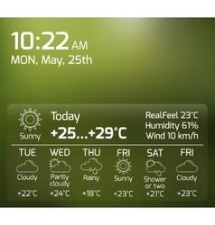 Weather widget flat concept vector