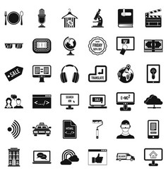 Web site icons set simple style vector