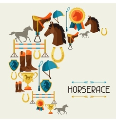 With horse equipment in flat style vector