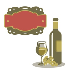White wine menu icon vector