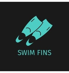 Swim fins icon vector