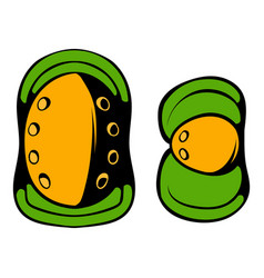 paintball knee protection icon cartoon vector image
