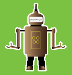 Isolated robot toy vector