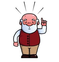Old man having an idea vector image