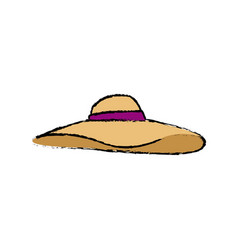 hat woman accessorie fashion vacations vector image