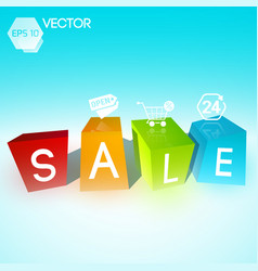 Promotional sale background vector