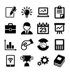 Business icons management and human resources vector image