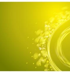 Yellow spiral vector image