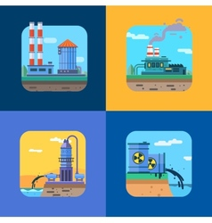 Ecology concept icons set for environment vector
