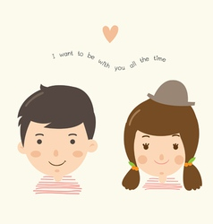 Couple boy girl vector