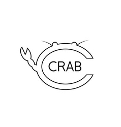 Crab monogram vector