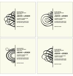 Elegant cards vector