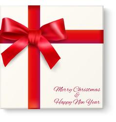 Christmas box top view vector image