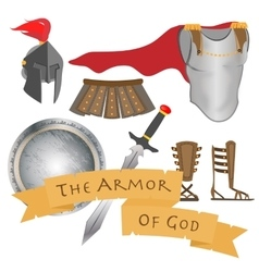 The armor of god warrior jesus christ holy spirit vector