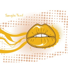 Mouth with grunge vector