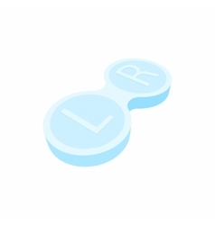 Closed contact lens case icon cartoon style vector