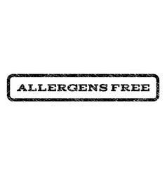 Allergens free watermark stamp vector