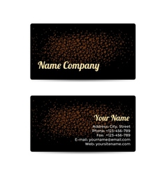 Business Card with Leather Background vector image vector image