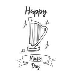 collection music day style hand draw vector image