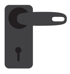 door handle icon on white background door handle vector image