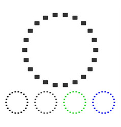 Dotted circle flat icon vector