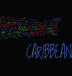 Endeavors in the caribbean for active travelers vector