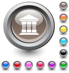 Exchange round button vector