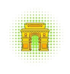 Gate new delhi india icon comics style vector
