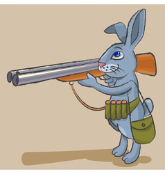Hare hunter vector image vector image