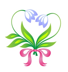 little floral bouquet in form of heart vector image