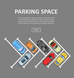 parking space template vector image vector image