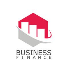 Polygon trade business finance logo vector