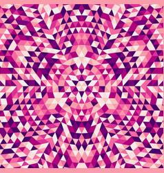 Round abstract geometrical triangle mandala vector