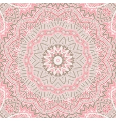 round ornamental lace background vector image