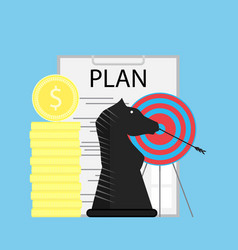 strategy and plan vector image vector image