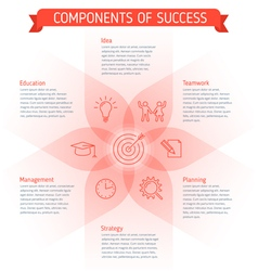 Success infographic elements vector