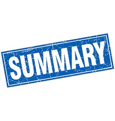 Summary blue square grunge stamp on white vector